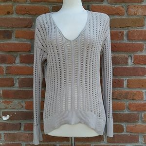 Calvin Klein V-neck See Thru Sweater